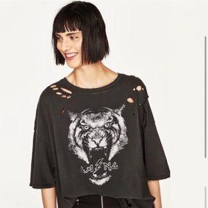 ISO !! Zara ripped tiger shirt